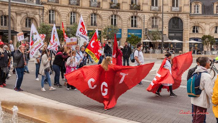"""""""CGT"""" Manifestation intersyndicale, Bordeaux, mardi 5 octobre 2021. Photographie © Christian Coulais"""