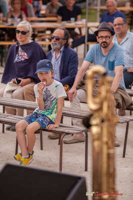 """""""Hum, j'hésite en glace et saxophone baryton"""" Shob & Friends. Festival JAZZ360 2018, Quinsac. 10/06/2018"""