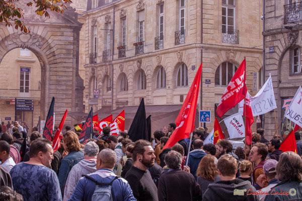UNEF Bordeaux. Manifestation intersyndicale de la Fonction publique, place Gambetta, Bordeaux. 10/10/2017
