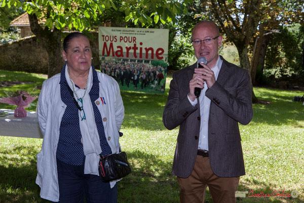 Martine Faure, Députée de la Gironde, Jean-Luc Gleyze, Président du Conseil départemental, 14 mai 2017, Blasimon