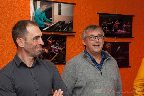 Thierry Tujague, restaurant les Acacias, parteanire fidèle de JAZZ360, Richard Raducanu, Président JAZZ360. 03/06/2016