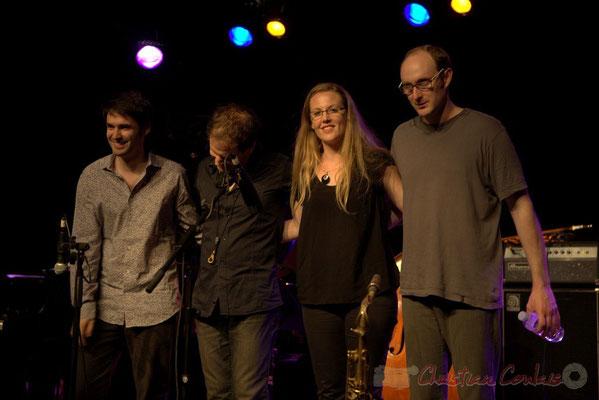 "Paul Lay, Frédéric Borey, Nolwenn Leizour, Stefano Lucchini; Frédéric Borey ""Lines"" Quartet, Festival JAZZ360 2012, Cénac. 08/06/2012"