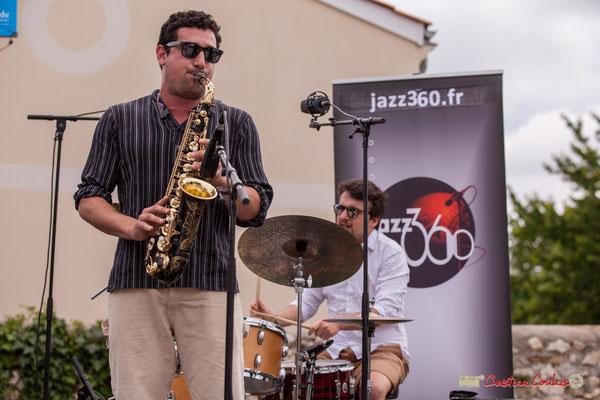 Mathis Polack, Nicolas Girardi; Atelier jazz du conservatoire Jacques Thibaud. Festival JAZZ360, Quinsac. 10/06/2018