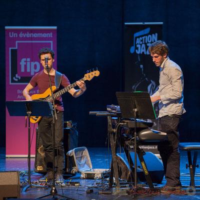Ouriel Ellert, Simon Chivallon, quartet Le JarDin. Tremplin Action Jazz 2017. Le Rocher de Palmer