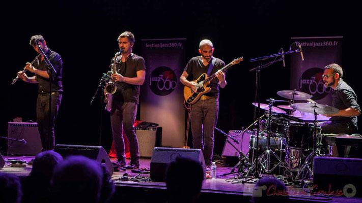 Joce Meinniel, Sylvain Rifflet, Philippe Gordiani, Nicolas Larmignat, Sylvain Rifflet Quartet, Festival JAZZ360 2016, Cénac
