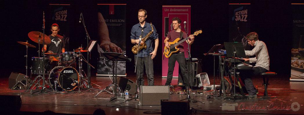 2 Gaétan Diaz, Julien Dubois, Ouriel Ellert, Simon Chivallon, quartet Le JarDin. Tremplin Action Jazz 2017. Le Rocher de Palmer