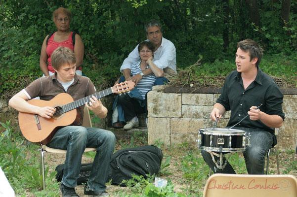 Mathias Monseigne, Hugo Raducanu. Randonnée Jazzy organisée par A.L.I.C.E., Citon-Cénac. 04/06/2011