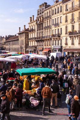4/5 Marché Saint-Michel, Bordeaux. Samedi 6 mars 2021. Photographie © Christian Coulais