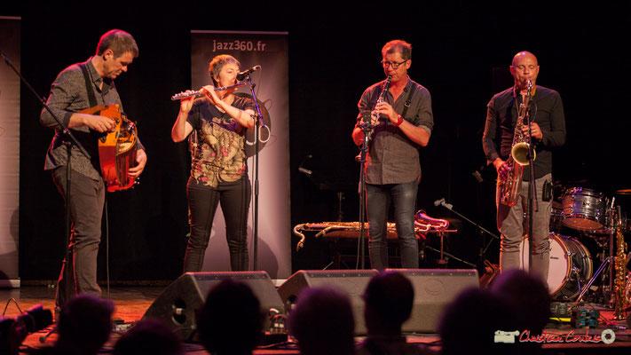 Gilles Chabanat, Anne Colas, Fred Pouget, Guillaume Schmidt; Clax Quartet. Festival JAZZ360 2018, Cénac. 09/06/2018