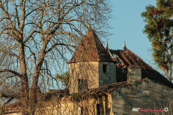 tour octogonale du XVème ou XVIème siècle, Renaissance. Château de Montignac, Cénac. 20/12/2009