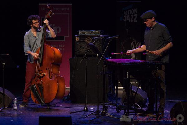 Louis Laville, Félix Robin du quartet Capucine. Tremplin Action Jazz 2017. Le Rocher de Palmer, Cenon