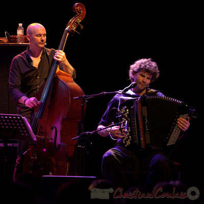 """Jérôme Regard, Vincent Peirani; Daniel Humair Quartet """"Sweet & Sour"""", Festival JAZZ360 2013, Cénac, 08/06/2013"""