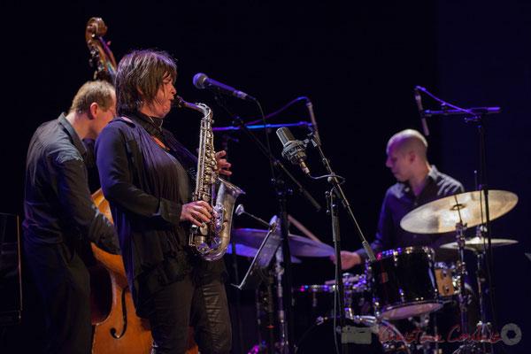 Yoni Zelnick, Géraldine Laurent, Donald Kontomanou, Géraldine Laurent Quartet. Festival JAZZ360, Cénac, 11/06/2016