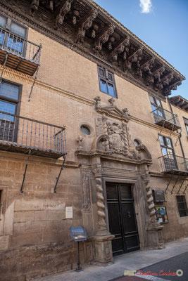 Façade du Palais d'Ongay-Vallesantoro / Fachada del Palacio de Ongay-Vallesantoro, Sangüesa, Navarra