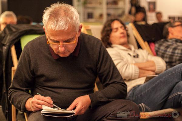 Eric Lefeuvre, artiste-peintre-architecte. Le Rocher de Palmer, 12/12/2015. Reproduction interdite - Tous droits réservés © Christian Coulais