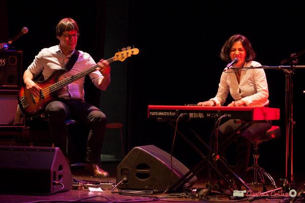 Akoda Trio : Benjamin Pellier, Valérie Chane-Tef. Soirée cabaret JAZZ360, Cénac. 17/03/2018