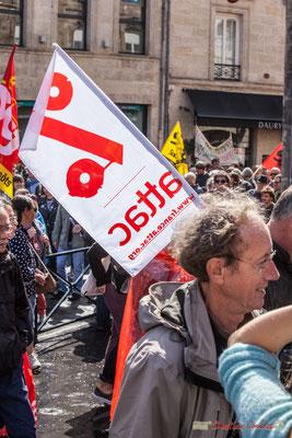ATTAC % se mobilise contre l'hégémonie de la finance et la marchandisation du monde. Manifestation contre la réforme du code du travail. Place Gambetta, Bordeaux, 12/09/2017