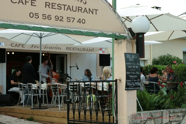19h30 SoupéJazz au Restaurant les Acacias avec West Side Trio. Festival JAZZ360, Cénac. 03/06/2011