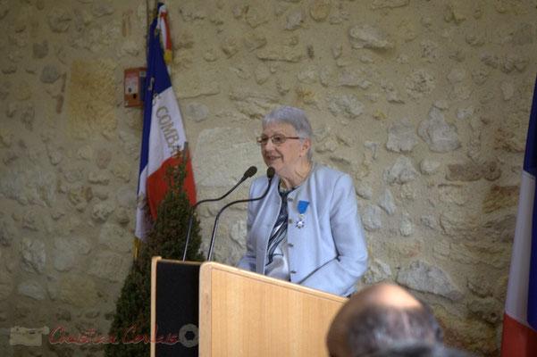 Discours de Suzette Grel, Chevalière de l'Ordre national du Mérite, ancienne enseignante, ancienne Maire, 7 février 2015, Le Pout