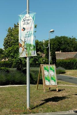 Affiche JAZZ360 et kakemono Scène d'été de la Gironde, partenaire du Festival JAZZ360 2011, Les coulisses du Festival à Cénac. 01/06/2011