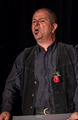 Dominique Pérez, récitant dans Carmen in Swing. Fargues-Saint-Hilaire