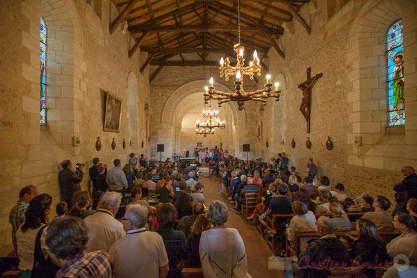 Les concerts des écoles devaient se réaliser sur la place du Bourg de Cénac, mais la météo est trop incertaine. Festival JAZZ360 2016, 10/06/2016