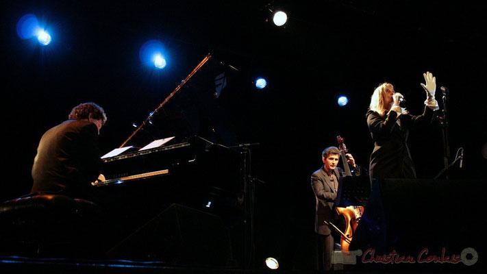 Serge Moulinier, Christophe Jodet, Lo Jay; Lo Jay et Serge Moulinier Trio. Festival JAZZ360 2010, Cénac. 12/05/2010