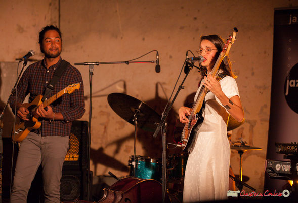Johary Rakotondramasy, Laure Sanchez; Laure Sanchez Quintet, JAZZ360 au Domaine de Sentout, Lignan-de-Bordeaux. 08/09/2018