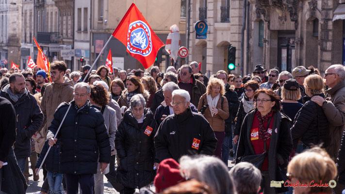 14h30 ARAC Association Républicaine des Anciens Combattants et victimes de guerre, des Combattants pour l'amitié, la solidarité, la mémoire, l'antifascisme et la paix. Manifestation intersyndicale de la Fonction publique, Bordeaux. 22/03/2018