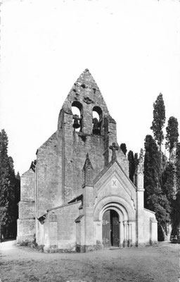 L'église Saint-André. Cénac d'antan. Collection Jean-Pierre Couthouis
