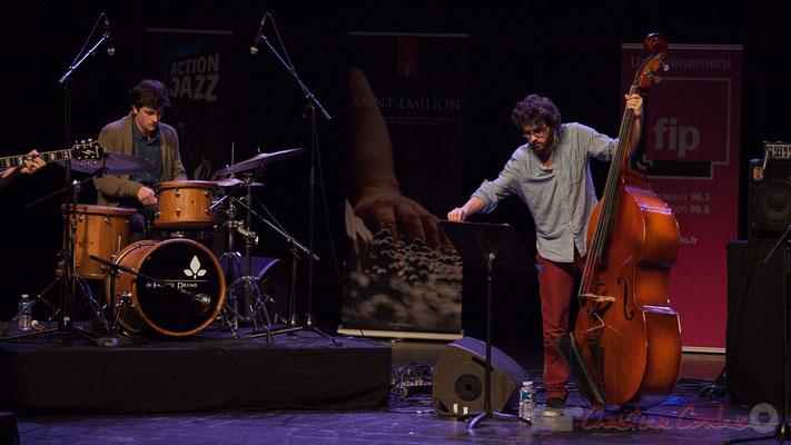Thomas Galvan, Louis Laville du quartet Capucine. Tremplin Action Jazz 2017. Le Rocher de Palmer, Cenon