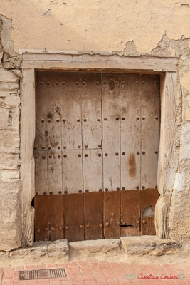 Porte d'entrée de la maison / Puerta delantera de la casa. Liédena, Navarra