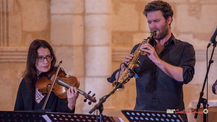 Aude-Marie Duperret, Maxime Berton; François Poitou Quintet. Festival JAZZ360 2019, Cénac. 07/06/2019
