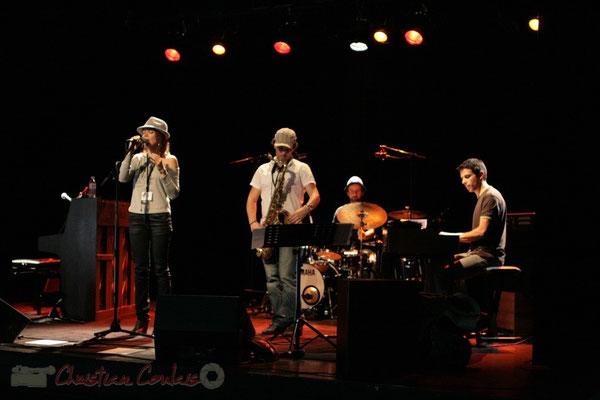 Balances d'Olinka Mitroshina Quartet, salle culturelle. Festival JAZZ360, Les coulisses du Festival à Cénac. 01/06/2011