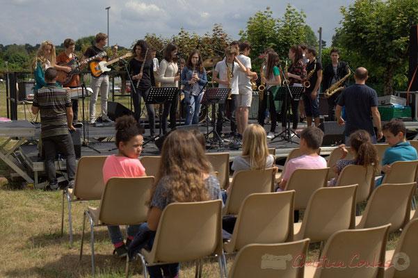 Les balances du Big Band du Collège de Monségur. Festival JAZZ360, Cénac, 12/06/2015