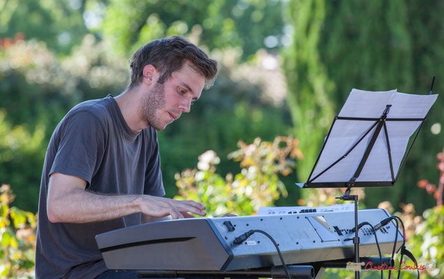 Simon Chivallon, Gaétan Diaz Quintet. Festival JAZZ360, 10 juillet 2017, Cénac