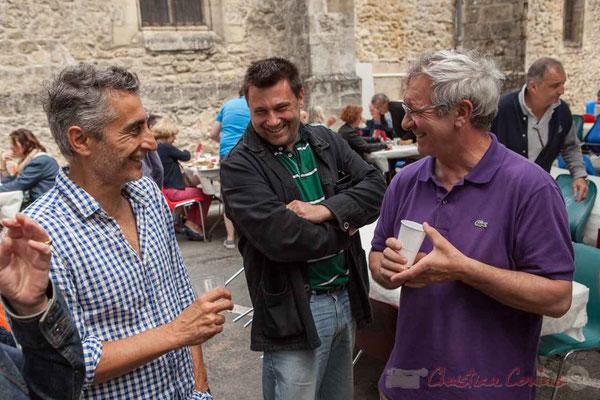 Vincent Michelet, élu à Latresne; Patrick Pérez, Bernard Capdepuy, élus à Quinsac. Festival JAZZ360 2016, Camblanes-et-Meynac