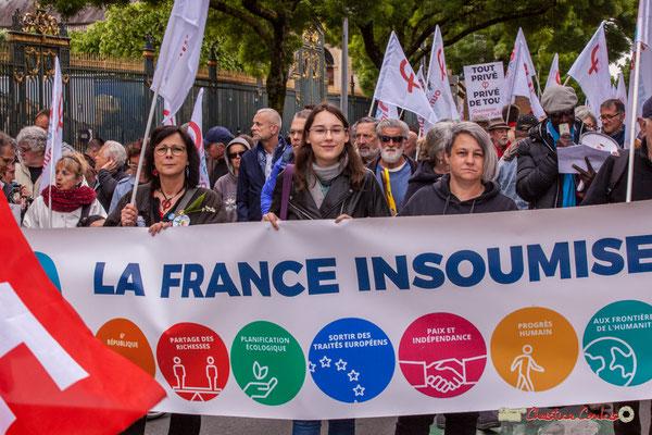 10h46 La France insoumise et ses militant-es. Cours d'Albret, Bordeaux. 01/05/2018