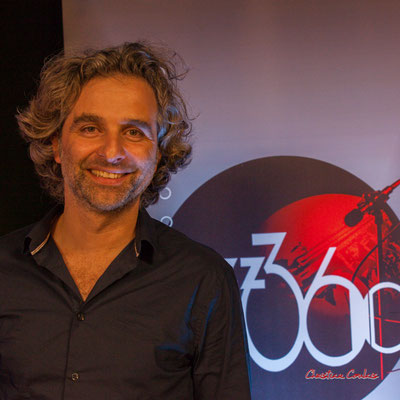 Laurent Vanhée, nouveau Président de l'association JAZZ360. Soirée Club JAZZ360, Cénac. Samedi 1er février 2020 ©Christian Coulais