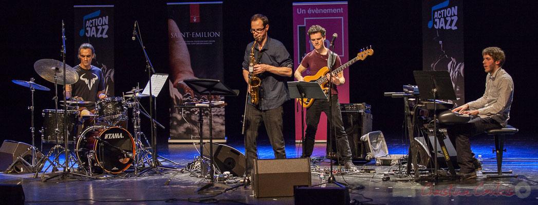 15 Gaétan Diaz, Julien Dubois, Ouriel Ellert, Simon Chivallon, quartet Le JarDin. Tremplin Action Jazz 2017. Le Rocher de Palmer