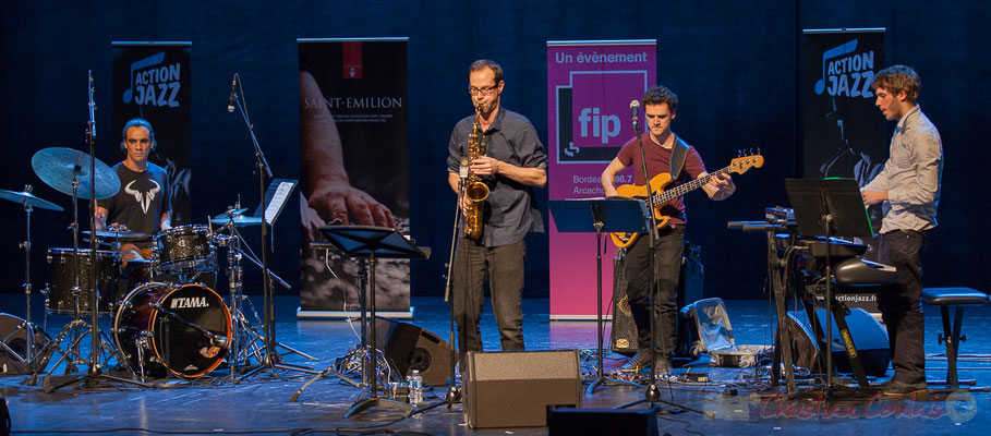 8 Gaétan Diaz, Julien Dubois, Ouriel Ellert, Simon Chivallon, quartet Le JarDin. Tremplin Action Jazz 2017. Le Rocher de Palmer