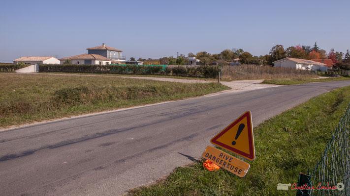 Chemin de Mons X Avenue de Lignan, Cénac, Gironde. 16/10/2017
