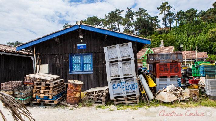 Cabane ostréicole, Village de l'Herbe, presqu'ïle du Cap Ferret, Gironde, Aquitaine