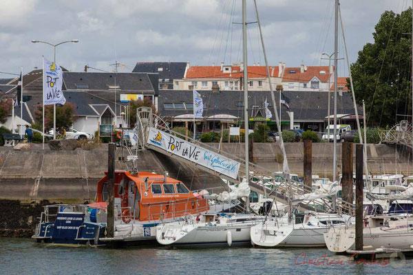 Bateau de la S.N.S.M., Les Sauveteurs en Mer. Port de plaisance, Saint-Gilles-Croix-de-Vie, Vendée, Pays de la Loire