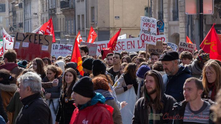 """14h23, """"Loi travail = loi exploitation"""", rue du Docteur Charles Nancel Penard, Bordeaux"""