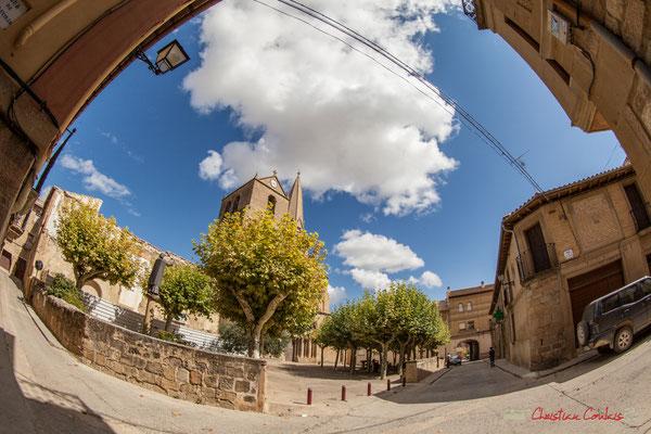 Plaza del Fosal, Eglise San Pedro, Olite, Navarre / Plaza del Fosal, Campanario de la Iglesia de San Pedro, Olite, Navarra