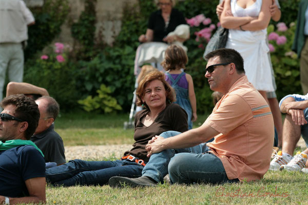 Stéphanie Ventura-Fornos, Patrick Pérez, Adjoints au Maire de Quinsac. Festival JAZZ360 2011, Quinsac. 05/06/2011
