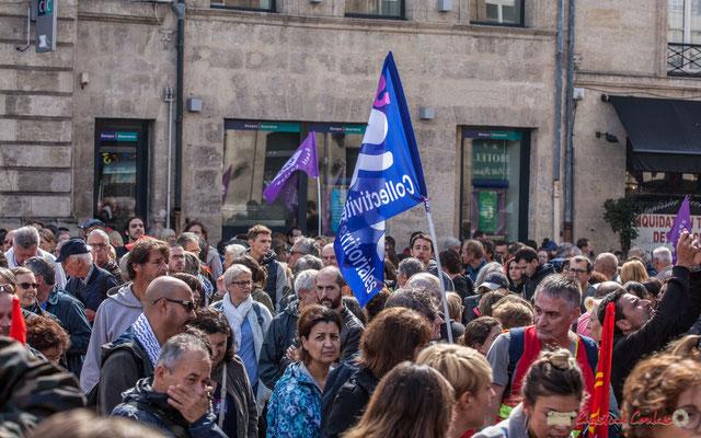Sud Collectivités territoriales. Manifestation contre la réforme du code du travail. Place Gambetta, Bordeaux, 12/09/2017