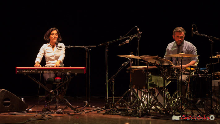 Akoda Trio : Valérie Chane-Tef, Franck Leymerégie. Soirée cabaret JAZZ360, Cénac. 17/03/2018