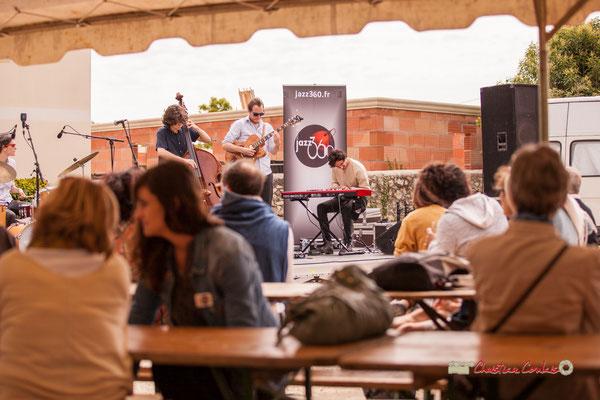 Esteban Bardet, Nicolas Allard, Edward Rogers; Atelier Jazz du Conservatoire Jacques Thibaud, Festival JAZZ360 2019, Quinsac, 09/06/2019